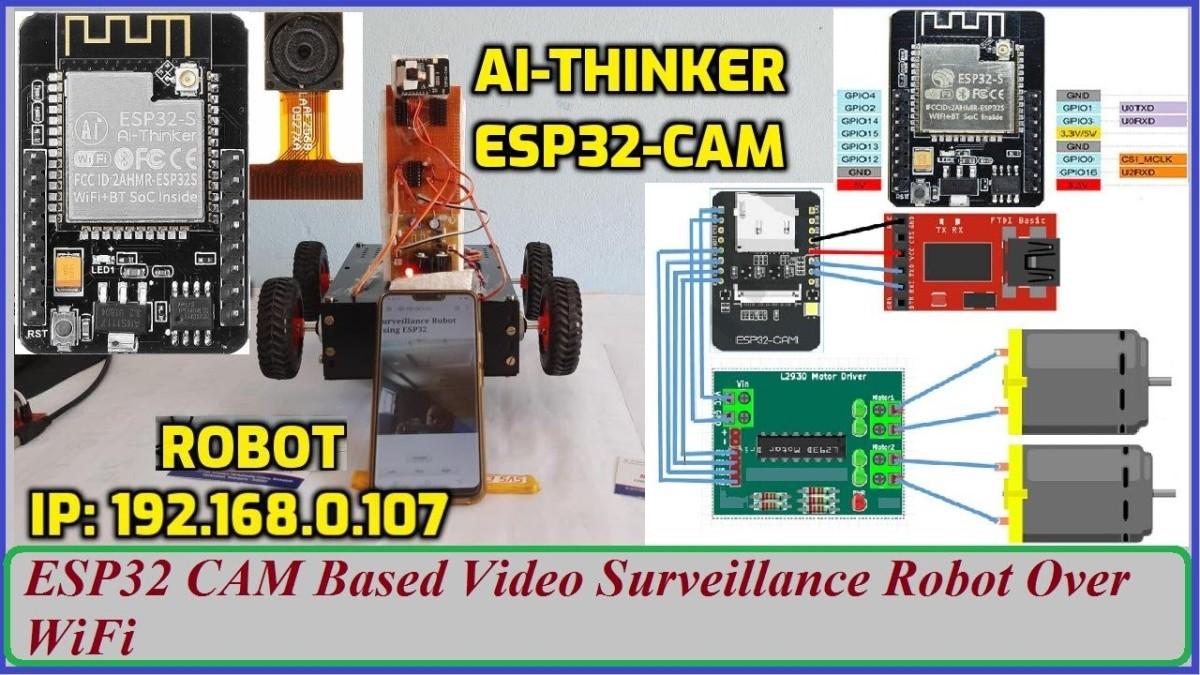ESP32 CAM Based Video Surveillance Robot Over WiFi | Ai-Thinker ESP32-CAM Arduino IDE | Ai-Thinker Camera ESP32-CAM in the Arduino. 1. WiFi Controlled