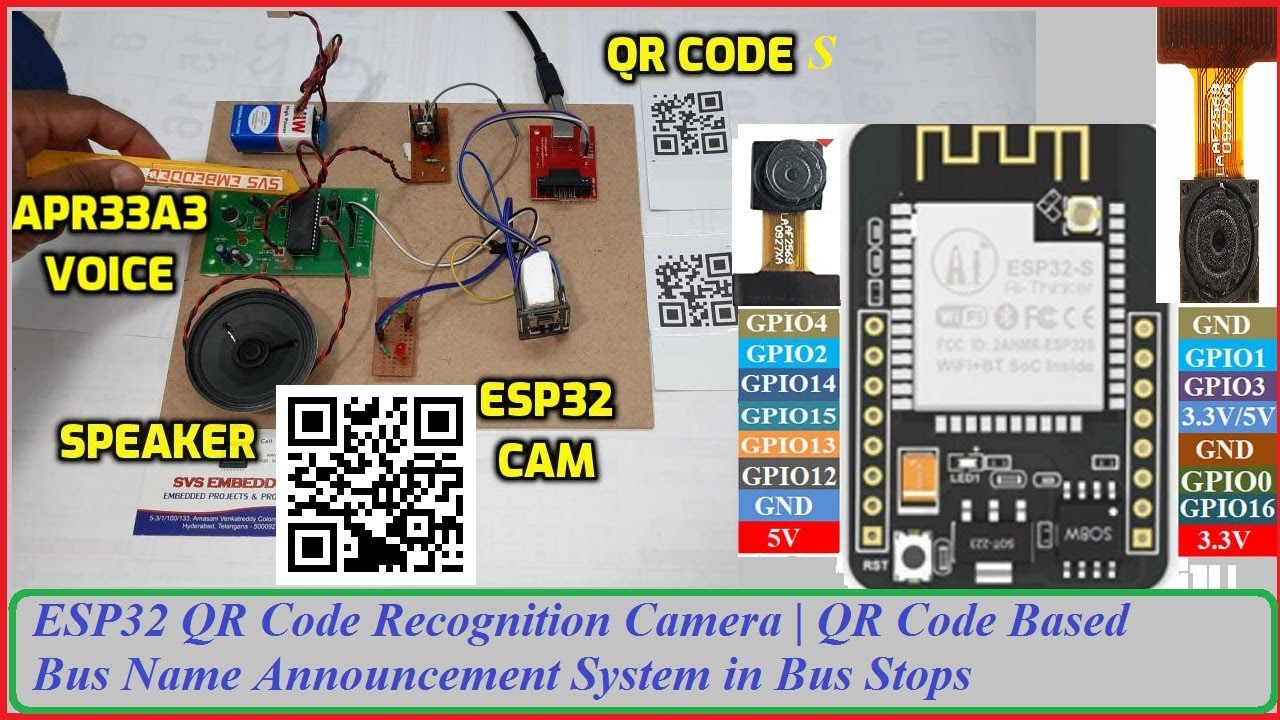 ESP32 QR Code Recognition Camera | QR Code Based Bus Name Announcement System in Bus Stops
