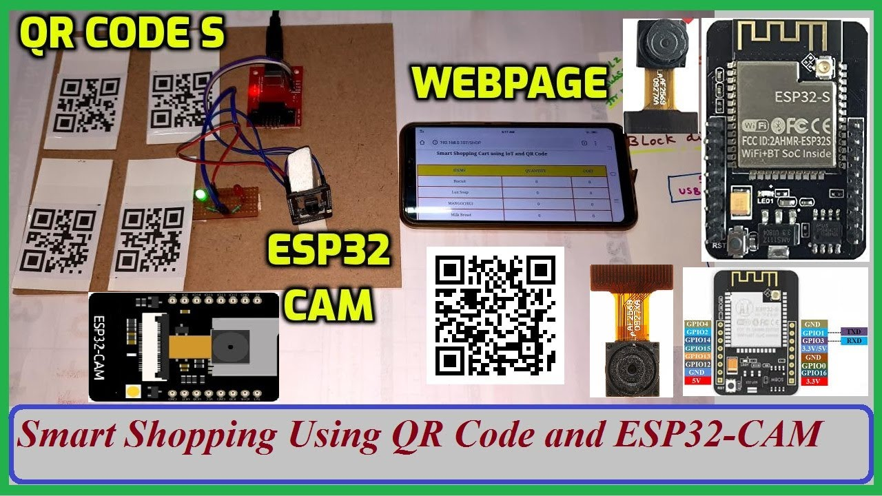 Smart Shopping Using QR Code and ESP32-CAM | IOT