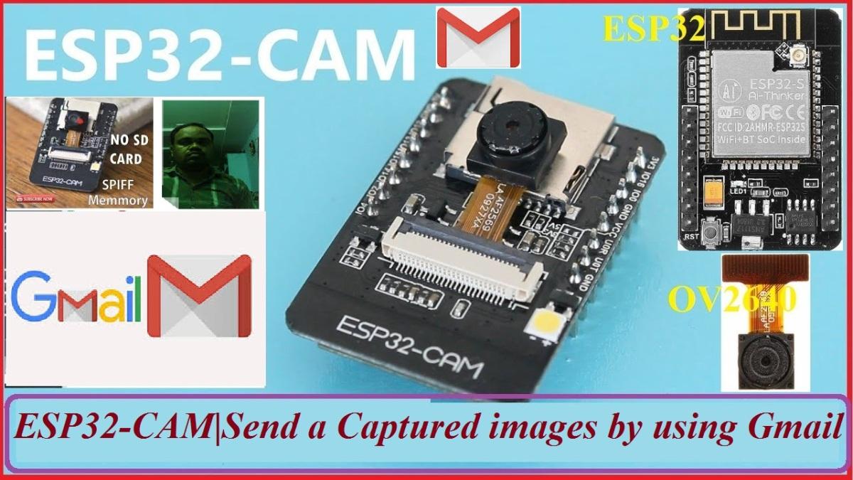 ESP32-CAM Send a captured photo to Telegram | ESP32-CAM| Email stored in SPIFF memory. |NO SD card required | Esp32 cam send captured images to Google